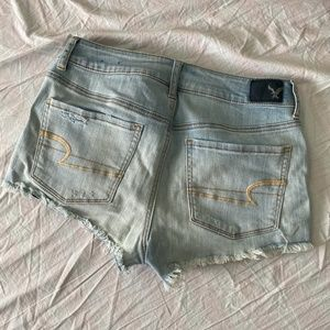American Eagle Outfitters Shorts - AEO Lace Pocket Hi-Rise Shorties | 8